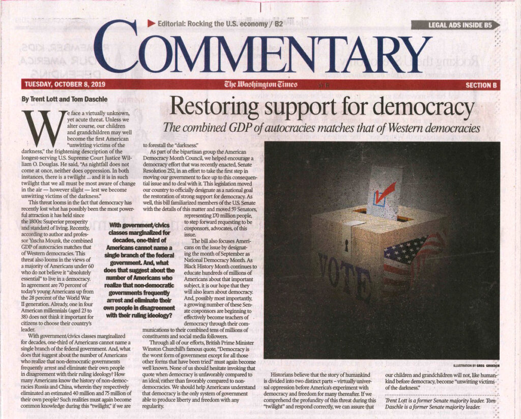 Restoring support for democracy